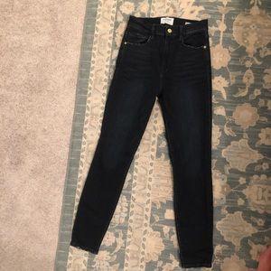 Frame Denim High Rise Ankle Skinny Jeans